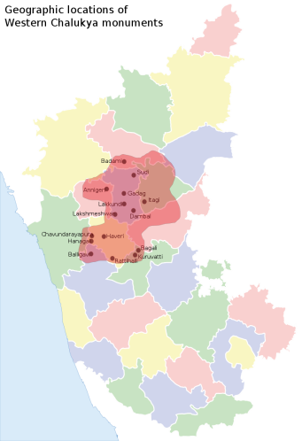 Map of iKure's intervention villages for Communications for Behaviour Change in Karnataka state, India