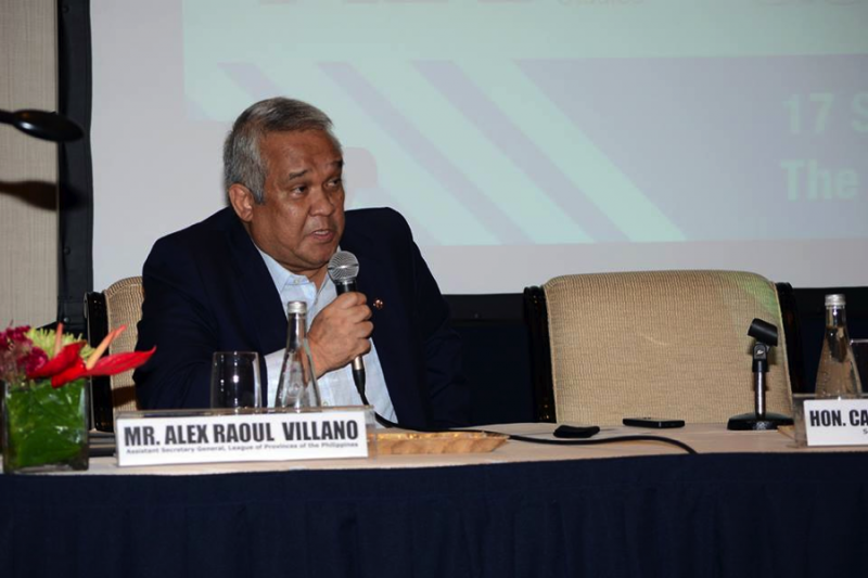 Alex Villano Assistant Secretary General of League of Provinces in the Philippines