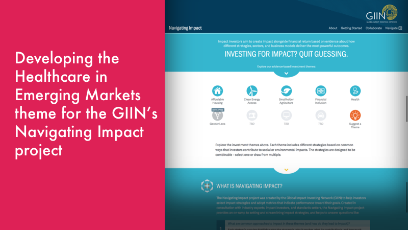 CHMI Featured in GIIN Navigating Impact Project | The Center